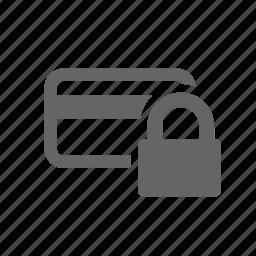 account, block, cancel, cards, close, lock, plastic icon