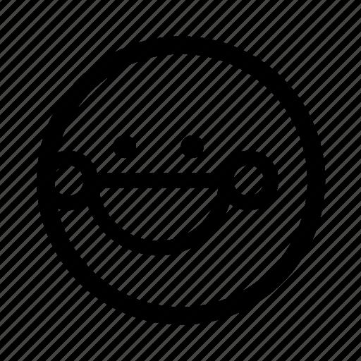 blushing, emoji, minimal, simplified, smiley icon