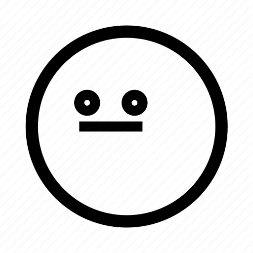 emoji, flushed, minimal, simplified, smiley icon