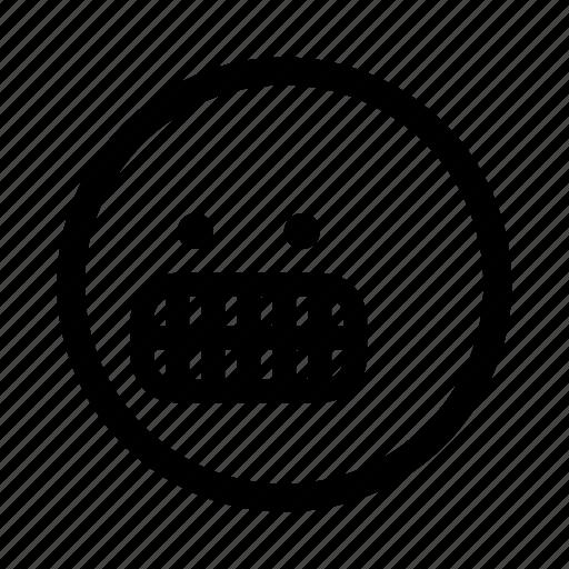 emoji, grinning, minimal, simplified, smiley icon