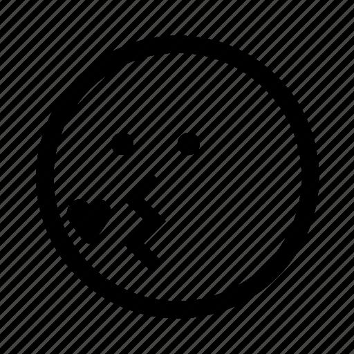emoji, kiss, minimal, simplified, smiley icon