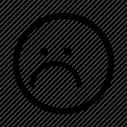 emoji, minimal, sad, simplified, smiley icon