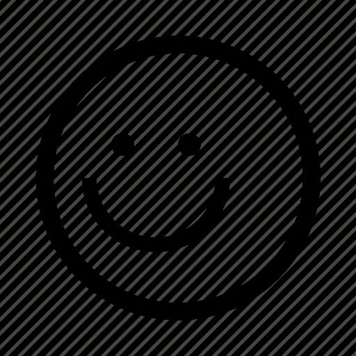 emoji, minimal, simplified, smile, smiley icon