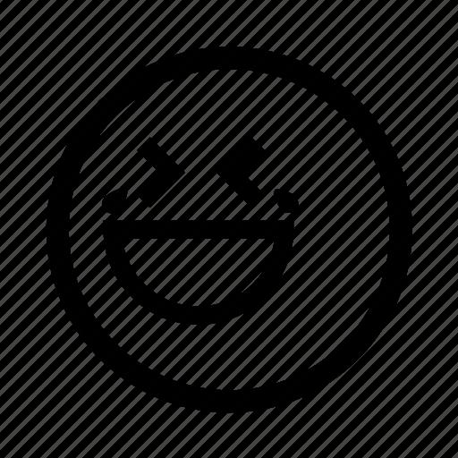 emoji, laugh, minimal, simplified, smiley, tears icon