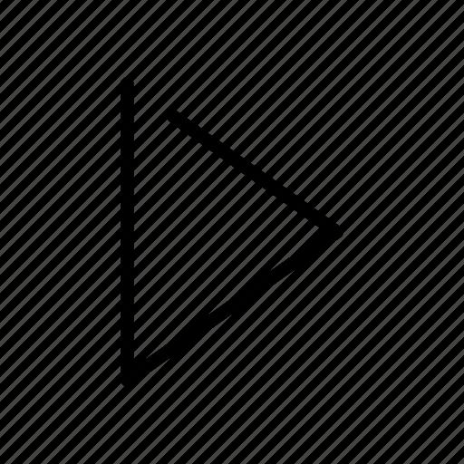 arrow, forward, play, right, side icon