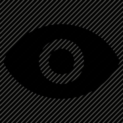 eye, eyeball, eyesight, view icon