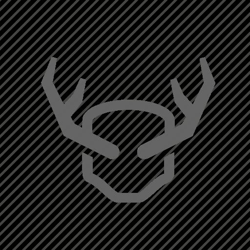 animal, deer, elk, horns, hunting, trophy, wild icon