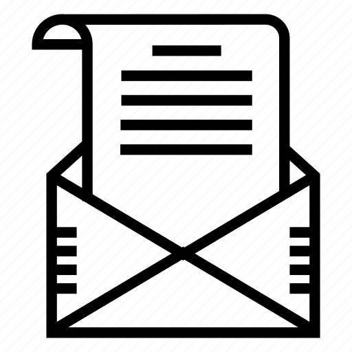 attachment, email, letter, mail icon