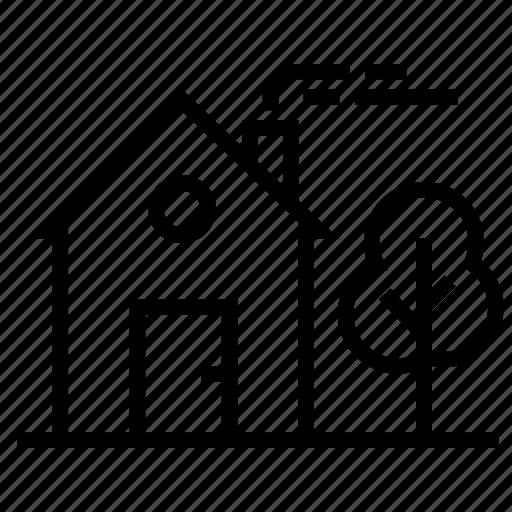 cottage, house, residence, village icon