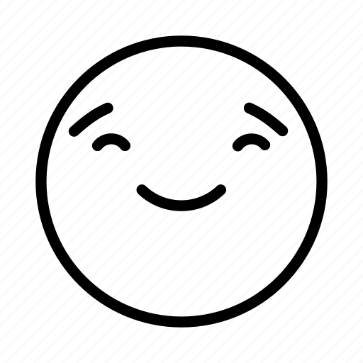 emoji, emoticon, face, portrait, smile icon