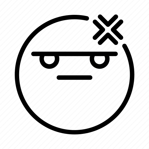 Angry, emoji, emoticon, face, portrait icon - Download on Iconfinder