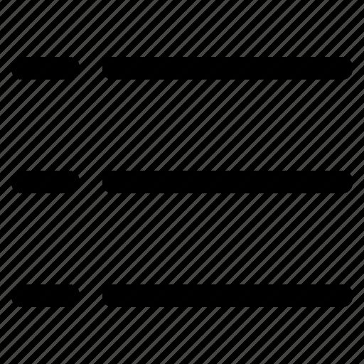 iconset, menu, paragraph, point, set, text, web design icon