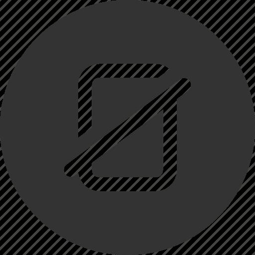 block, disable, fail, logoff icon