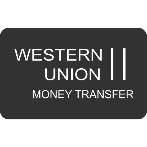 cash, checkout, money transfer, online shopping, payment method, service, western union icon