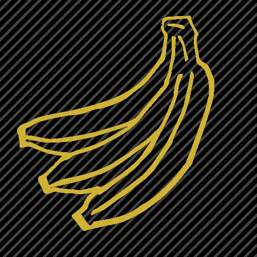 Banana Eat Flavor Food Fruit Sketch Smoothie Icon Download On Iconfinder