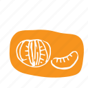 clementine, eat, flavor, food, fruit, sketch, smoothie icon