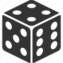 casino, cube, dice, die, gamble, gambling, las vegas × icon