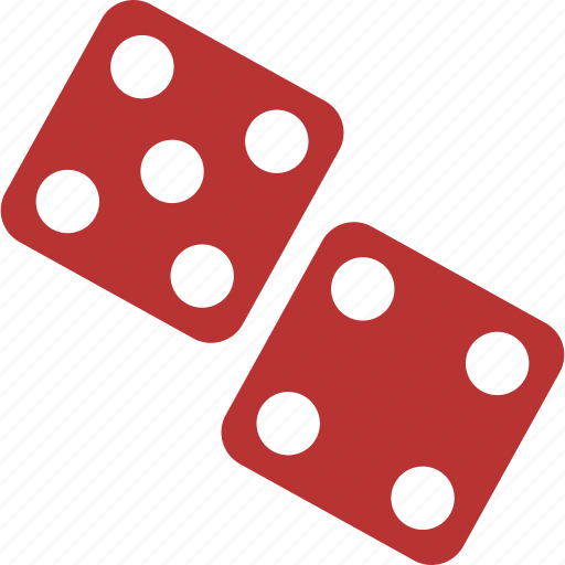 casino, craps, dice, gamble, gambling, game, red icon
