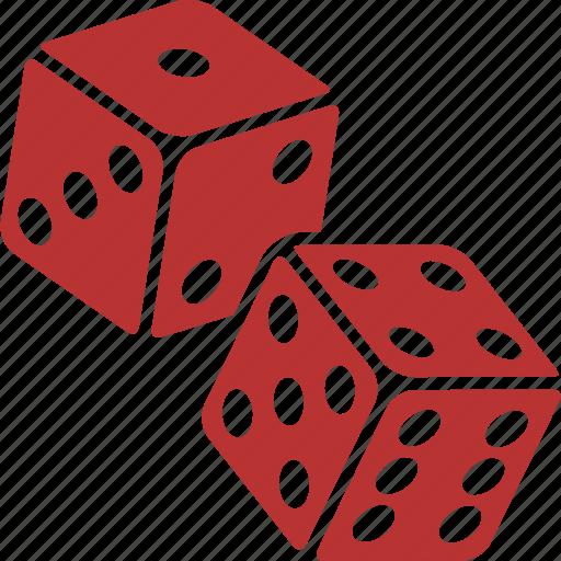 casino, craps, dice, gamble, gambling, las vegas ×, red icon