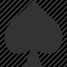 card, gamble, gambling, game, playing, spade, suit icon