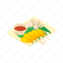 asian, cartoon, dish, food, meal, singapore, traditional icon