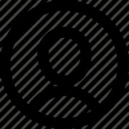 circle, person, profile icon