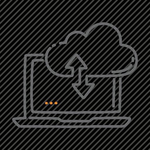 cloud, computing, network, sync, upload icon