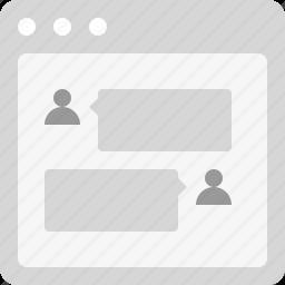 chat, comment, conversation, discussion, talk, testimonial icon