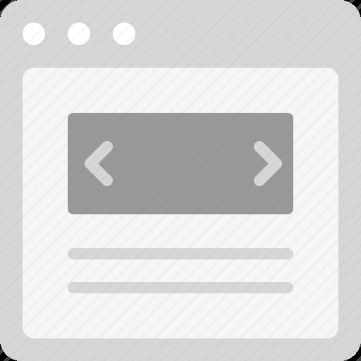 design, homepage, landing page, layout, slider, webpage, website icon