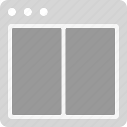 grid, interface, layout icon
