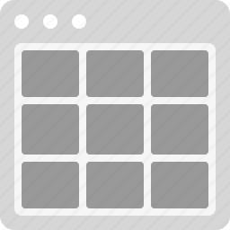 grid, interface, layout, thumbnails icon