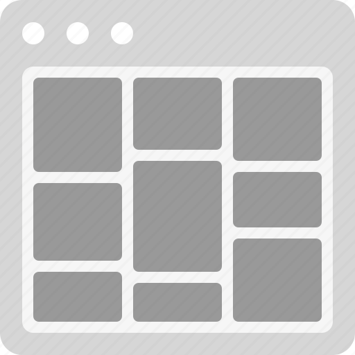 bricks, grid, interface, layout icon