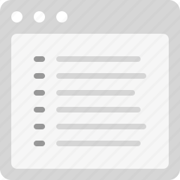 content, list, listing, to-do list icon