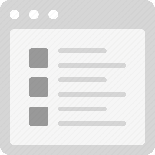 articles, blog posts, features, list, listing icon
