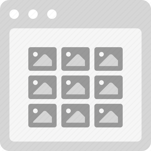 images, photo gallery, photo thumbnails, photographs, photos, photos list, thumbnails icon