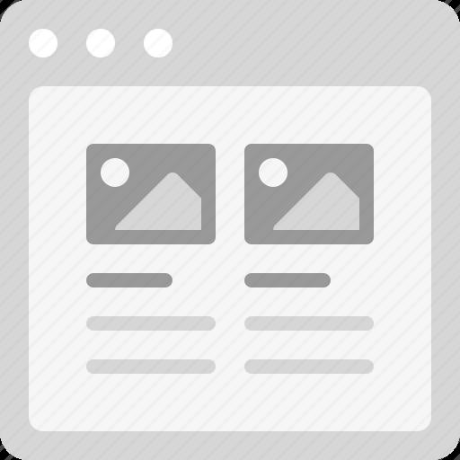 articles, blog posts, photo blog, photos, photos list icon