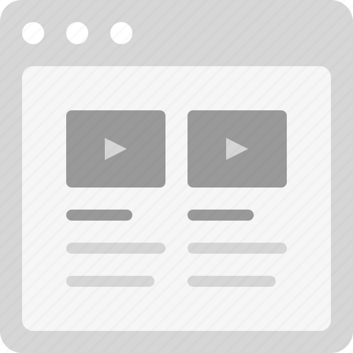 movies, video articles, video blog, videos, videos list icon