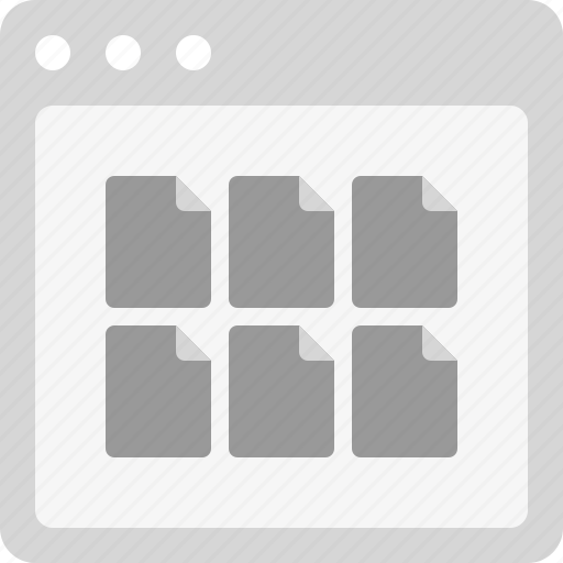 documents, documents list, files, files list, online storage, web storage icon