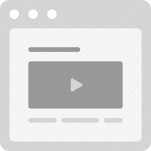 article, video article, video blog icon