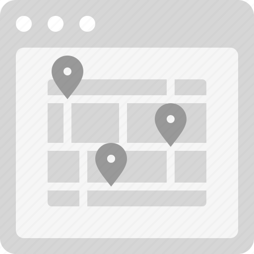 city map, direction, locate, location, map, pins icon