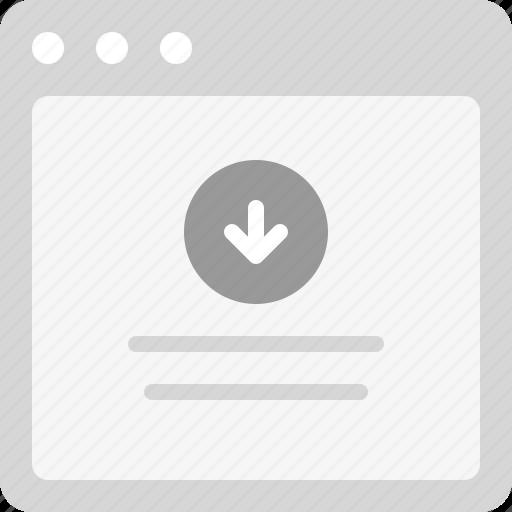 download, download file, download process, download screen icon