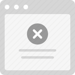 error, error message, failure, failure message, forbidden, forbidden message icon