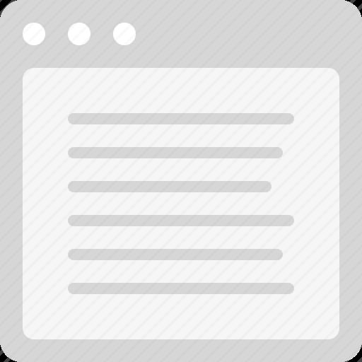 align left, content, plain text icon