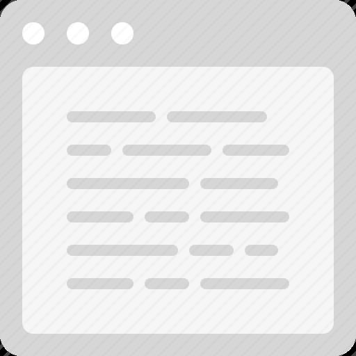 content, plain text icon