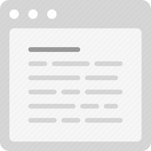 article, content, plain text icon