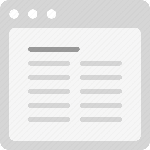 article, content, justify, plain text, two columns icon