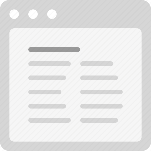 align left, article, content, plain text, two columns icon