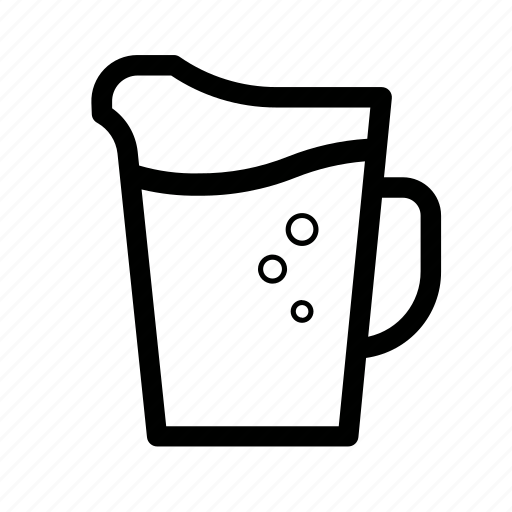beer, pitcher, pub, serve icon
