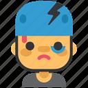 helmet, skate, bruise, sport, injury, crash icon