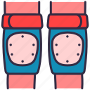 pads, safety, skateboard, knees, sport, accessories icon